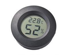 XCSOURCE mini display a cristalli liquidi 2in1 Igrometro termometro digitale di figura rotonda di umidità di temperatura Meter nero MA1085