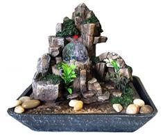 Fontana Zen Feng Shui in Poliresina con led luminosi