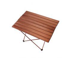 DWJ Tavolo da Campeggio Pieghevole, Portatile Pieghevole Lega di Alluminio Tavolo da Giardino, for Interno Allaperto Barbecue Pesca Spiaggia (Color : A, Size : 685 * 455 * 405mm)
