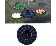 Fontana a energia solare, pompa per laghetto, monocristallino, pannello solare, pompa per acqua solare, galleggiante, pompa per laghetti da giardino o fontane a zampillo
