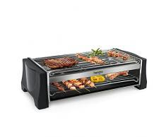 Barbecue Elettrico, Griglia Bistecchiera Elettrica 2000W in Acciaio Inossidabile Adatto per Cenare con Amici e Familiari sul Balcone e sul Giardino