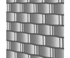 Jago Nastro Paravento da Balcone | 40m x 19cm, in PVC, Protezione, Frangivento, Frangivista | Resistente alle Intemperie, Grigio | Strisce Paravista, Telo Recinzione, Telo Privacy per Balcone