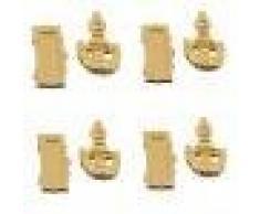 Set Di 4 Bambole Raccordi Casa In Miniatura Porta Battente Buca Delle Lettere Box