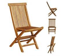 Lotto di 4 sedie da giardino pieghevoli in teak