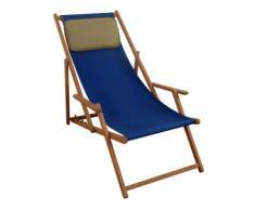 Sedia a sdraio blu – Sedia a sdraio pieghevole sedia a sdraio, lettino da giardino in legno Sedia da spiaggia Mobili da giardino 10 – 307 KD