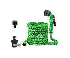 ZHOUHON Tubo per Irrigazione da Giardino, Tubo da 100 Piedi, Tubo Magico, Utilizzato per Lavaggio Auto/Irrigazione Giardino/Pulizia Finestre/Pavimento (Verde)