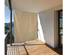 Garden at Home 301050114-HE - Tenda da sole verticale per balcone, 130 x 240 cm, colore: crema