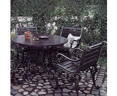 Sogno da giardino rotondo tavolo da giardino in ferro battuto - Circum, marrone
