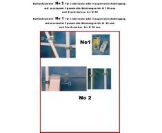 venduto in 2017 – Esclusivo Giallo ombrellone da balcone stabielo – faechsc hirm Holly mat ® con balkonhalterung per bruestungen fino a 195 mm + gomma Cappucci di protezione – Innovazioni Made in Germany – Holly