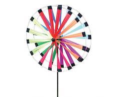 Girandola Doppia Segnavento Multicolore per Giardino 50 cm