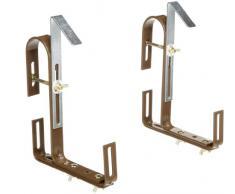 Special 508711 Supporti per balconiera, adatti a ringhiere rotonde
