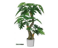 Philodendron Pianta Albero Artificiale Plastica 190cm Decovego