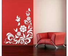 """Adesivo murale Wall Art """"Pianta ornamentale con farfalle"""" - Misure 93x120 - Decorazione parete, adesivi per muro, carta da parati"""