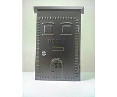Cassetta postale posta ferro battuto nera cm 30X38X10 buca per lettere riviste