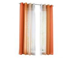 2 PCS Tende Gradiente Tenda Stampata per Finestra, Balcone, Soggiorno, Camera da Letto (Arancione, 140x175cm)