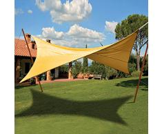 VERDELOOK Tenda ombreggiante Vela Quadrata Ecrù Verde Copertura Sole Ombra Giardino