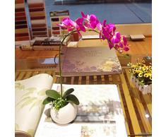 1 X Arredamento Artificiale Simulazione Farfalla Orchidea Pianta - Fucsia