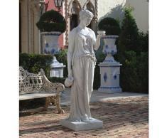 Design Toscano Ebe la dea della giovinezza Statua grega da giardino, poliresina, pietra antica, Grande 81 cm