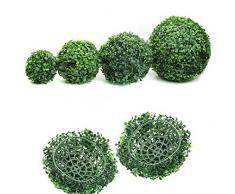 KaariFirefly, pianta artificiale a forma di sfera, decorazione tipo bosso in arte topiaria, per casa, esterni, feste, matrimoni , 30 cm