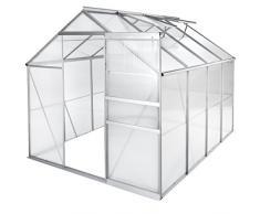 TecTake Serra da giardino in alluminio e policarbonato per piante orto casetta esterno - modelli differenti - (250x185x195 cm | no. 402476)