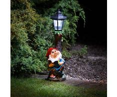 MDL-Gnomo da giardino con luce a energia solare, Post-3071401515)