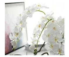 Fiore artificiale di orchidea farfalla. Decorazione floreale per matrimonio, casa Red