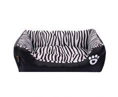 LvRao Cuccia per Animali Lavabile Casette per Cani, Gatti Rettangolare Divano, Letto Dell'animale Domestico (Zebra, 45 * 40 * 12CM)