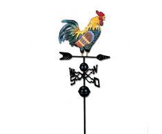 Gallo segnavento, Bulary tradizionale colorato disegno cock Wind Vane giardino decorazione 130 cm