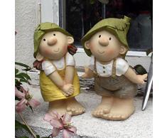 Lilly and Len Elves - Decorazione da giardino, gnomo, fata del giardino, troll