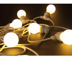 SELETTI Set 10 Luci A LED da Giardino Bella Vista Mt. 14,2 - Filo Bianco