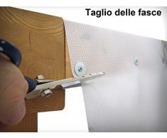 TUTTOPERGOLE Telo Onda Fascia OMBREGGIANTE PERGOLE Gazebo cm 50X400