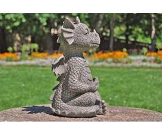 MystiCalls - Statua da Giardino a Forma di Drago in Meditazione