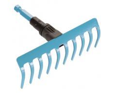 Gardena Minirastrello combisystem: Rastrello per lavori sul terreno come pulizia, irruvidimento e spianatura, larghezza 18.5 cm, 10 denti (3185-20)