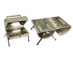 Urban Design mq Pieghevole in Acciaio Inox Valigia griglia Barbecue Grill BBQ