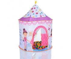 LCPKids 305 Tenda gioco per bambini pop up + 100 palline