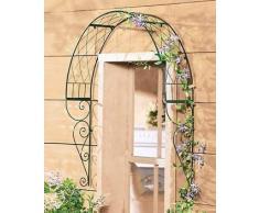 Mendler Arco Romantico Piante rampicanti a Parete 22x100x107cm Verde Scuro