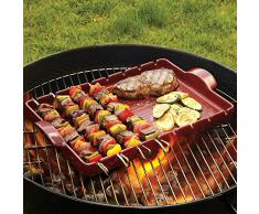 Emile Henry EH797542 Grill Barbecue, Carbone