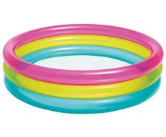 Intex- Piscina, Colore Rosa/Giallo/Azzurro, 57104