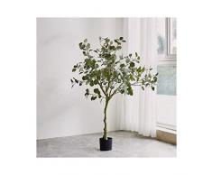 AA- Simulazione Fiore falso Piante in vaso, Artificiale Grande pavimento Arbusto Decorazione della casa di plastica Paesaggio Accessori per piante Impermeabile non tossico 0626 ( Size : S )