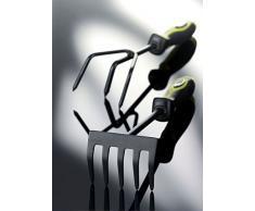 Xclou kleingrubber – Coltivatore formgerechter Maniglia in TPE – Attrezzi da giardinaggio, 3 denti, Verde e nero, 43 x 7 x 5 cm, 341603