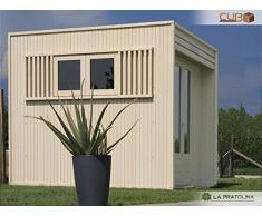 Casetta in legno da giardino 2x2 LA PRATOLINA di alta qualità modello CUBO ad uso ricovero attrezzi,legnaia,box moto,ricovero animali,capanno attrezzi