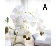 Hlhn colorato fiore di seta artificiale Phalaenopsis orchidea farfalla per la decorazione dell' ufficio casa scrivania tavoli da giardino Outdoor party A