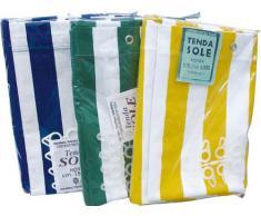 Tenda da sole in cotone telato - 290x290 cm - colore: Bianco-Giallo