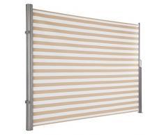 Ultranatura Tenda da sole Maui - Tenda laterale avvolgibile come protezione dagli sguardi indiscreti da fissare verticalmente - 300 x 180cm, Crema/Bianco
