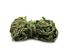 ULTNICE Pianta artificiale Corda con fili di foglie verde per la decorazione di casa e Girlanda fai da te (10M)