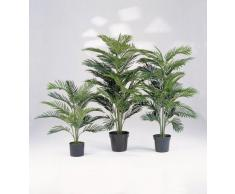 Palma Areca artificiale con base cementata, 17 fronde, 90 cm - Pianta decorativa / Pianta finta - artplants