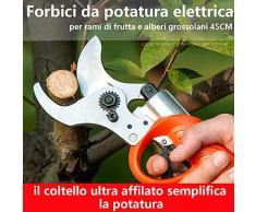 AOPOW Forbici da potatura elettrica, Troncatrice elettrica Professionale a Forbice Ricaricabile per Rami di Alberi Strumento per Tagliare cesoie elettriche Regolabili (45mm)