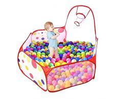Daorier Piscina con Palline per Bambini Tenda di Gioco Bambino Portatile Baby Oceano Sfera Piscina e Basket CERCEAU 120 x 120 x 74 cm b