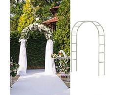 ZH-1 Arco da Giardino in Ferro battuto, Arco per Piante rampicanti Verde Esterni, Decorazione Cerimonia Nuziale Arco, Leggero e Resistente alle intemperie