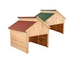 Zelsius garage in legno per robot tosaerba, Verde